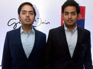 Mukesh Ambani's sons Anant and Akash arrive for the book launch of Gunjan Jain