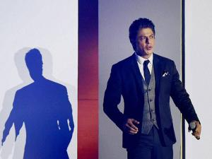 Bollywood actor Shahrukh Khan during a promotional event in Mumbai