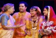 Gursharan Kaur with Kathak danseuse Padma Shri Shovana Narayan and musicologist Kumud Diwan