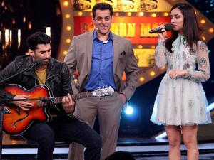 Salman Khan, Aditya Roy Kapur and Shraddha Kapoor participating Bigg Boss session 10 for prootion their film Ok Jaanu