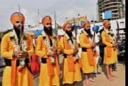 Sikh devotees celebrate the birth anniversary of Guru Nanak Dev at Ulsoor Gurudwara in Bengaluru