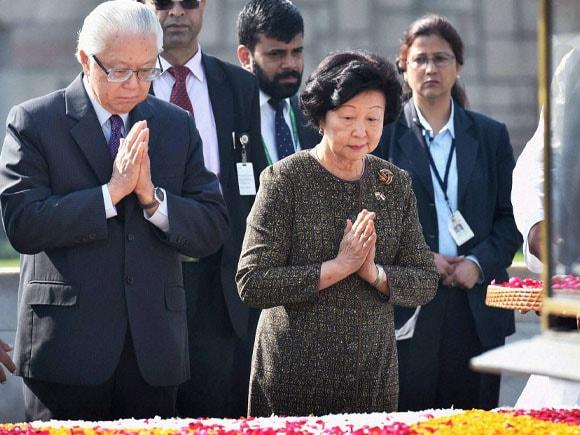 President of Singapore,  Tony Tan Keng Yam,  Narendra Modi,   Pranab Mukherjee, Mary Chee Bee Kiang