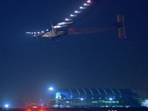 Solar, aircraft SI-2, Swiss aircraft,  Solar Flight, Solar Impulse, Swiss, Ahmedabad