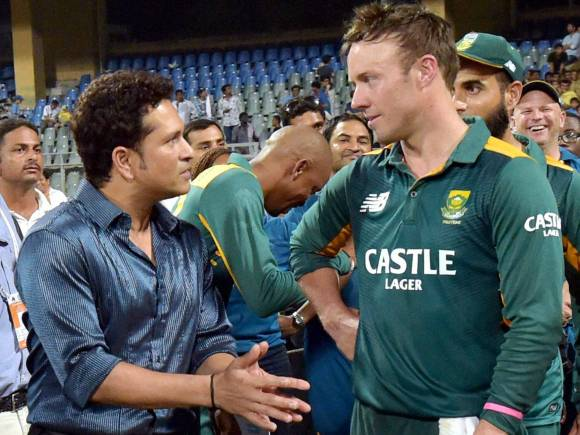 South African captain, Ab de Villiers, Sachin Tendulkar, South Africa series win, South Africa vs India Series, South Africa in India Series 2015, Cricket, Live Score, Live Cricket Score