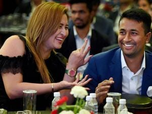 Badminton player Jwala Gutta and crickter Pragyan Ojha
