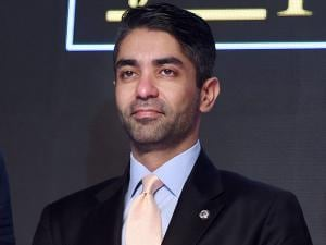 Indian shooter Abhinav Bindra after receiving the lifetime achievement award