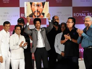Shah Rukh khan with directors  during the launch of his book premiere 'SRK 25 Years of a Life'
