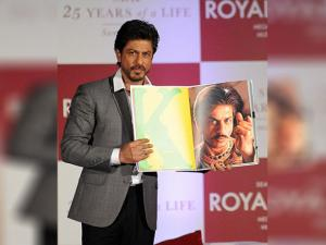 Shah Rukh khan with  his book  'SRK 25 Years of a Life'