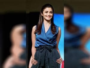 Alia Bhatt during a charity show during a charity show in Mumbai
