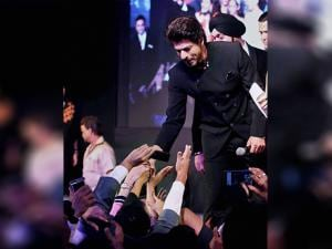 Shah Rukh Khan during a charity show in Mumbai