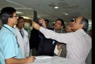 A team of AIIMS doctors analysing a report during inspection of the victims of Chhattisgarh's Sterlisation tragedy