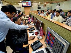 Brokers tracking the stock market as Sensex soared over 400 points