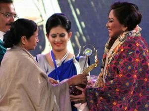 Chief Minister Mamata Banerjee presents 'Tele Academy Awards'