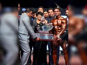 Sunit Jadhav Winner of the Mr India title at the 10th Senior National Bodybuilding Championship 2017