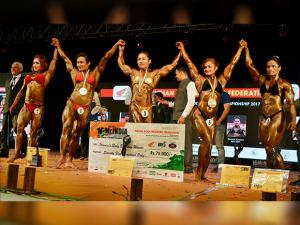 Top five winners of Women's Senior National Championship 2017
