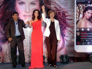 Sunny Leone during launch of her own Mobile App