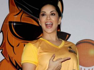 Sunny Leone during the_launch of her Box Cricket team 'Chennai Swaggers' in BCL season 2