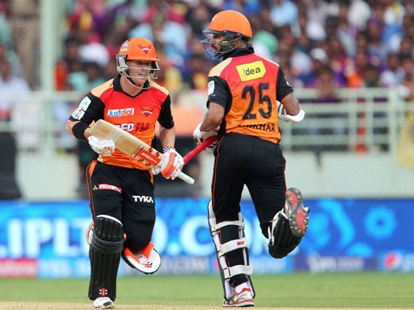 David Warner, Shikhar Dhawan, IPL, Pepsi IPL, Kolkata Knight Rider, Sunrisers Hyderabad