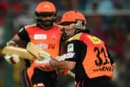Sunrisers Hyderabad players David Warner  and Shikhar Dhawan