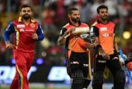 Sunrisers Hyderabad players Shikhar Dhawan and KL Rahul returns after winning against  Royal Challengers Bangalore