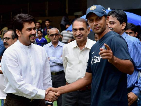 BCCI Secretary, Anurag Thakur, Rahul Dravid, India A, Bangladesh A, India A wins series, Chinnaswamy Stadium, Bengaluru