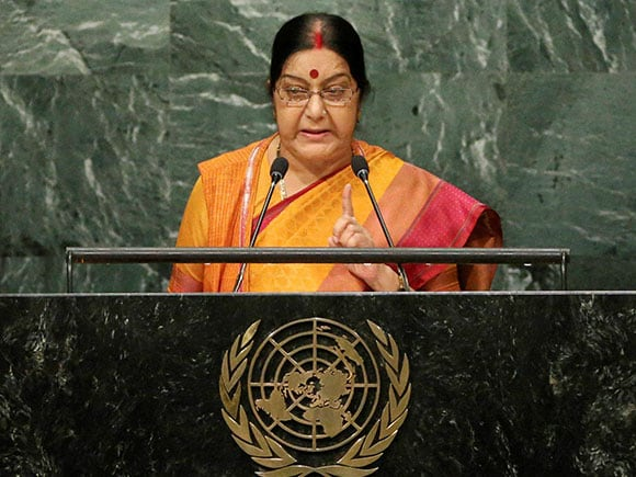 UNGA, Sushma Swaraj, External Affairs, United Nation, Pakistan