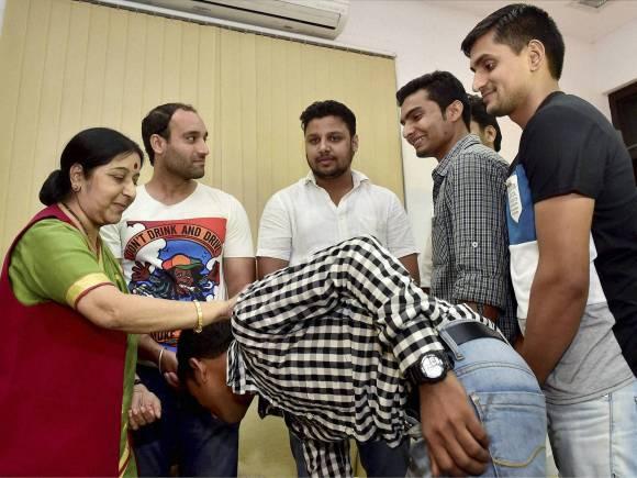 Sushma Swaraj, Indian sailors Jailed in Iran, Indian sailors, Sushil Kapoor, 9 Indian sailors in Iran jails released, Smuggling Oil