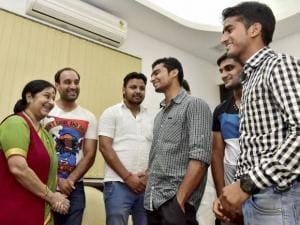 Sushma Swaraj thanks Iran for releasing 9 Indian sailors