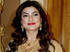 Actor Sushmita Sen during the launch of Teach For Change, 2016 Campaign at Hyderabad