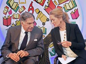 Chairman of TATA trusts Ratan Tata and President & CEO Sustainable Health care Solutions GE Health care Terri Bresenham
