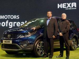 Cyrus Mistry at the launch of Tata Motors' SUV Hexa