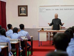Pranab Mukherjee  on the occasion of Teacher's Day in New Delhi