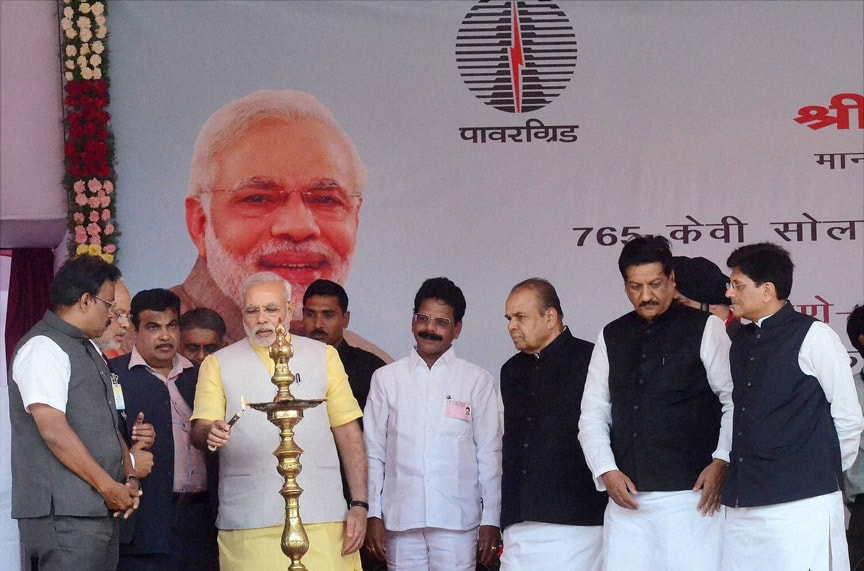 Prime Minister, Narendra Modi, foundation, stone laying, ceremony, widening, Solapur-Maharashtra, Karnataka border, section of NH-9, Soalpur