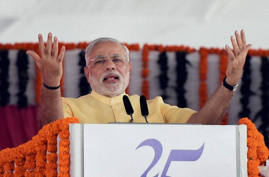 Prime Minister, Narendra Modi, foundation, stone, laying,  function, SEZ project, Jawaharlal Nehru Port Trust (JNPT)