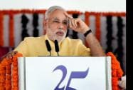 Prime Minister Narendra Modi during the foundation stone laying  function