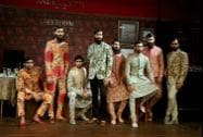 Sabyasachi Mukherjee's creation 'Ferozabad' is showcased at the India Couture Week 2014 in New Delhi