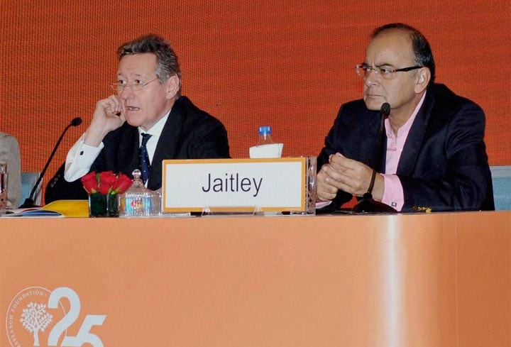 Union Minister for Finance, Corporate Affairs, Defence, Arun Jaitley, the India Global Forum, organised,  International Institute for Strategic Studies, New Delhi