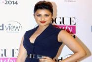 Bollywood actor Parineeti Chopra at the Vogue Beauty Awards 2014 in Mumbai