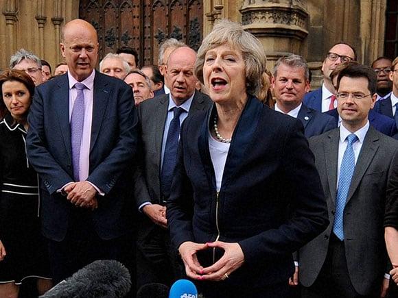 Theresa May, new british prime minister, new British PM, Brexit, David Cameron, Parliament in London