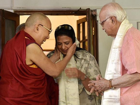 L K Advani, Dalai Lama, Tibetan spiritual leader, Lal Krishna Advani
