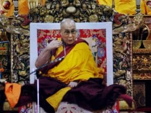 Tibetan Spiritual leader Dalai Lama's teachings at Tibetan temple