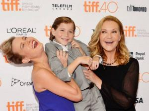 Brie Larson, Jacob Tremblay and Joan Allen