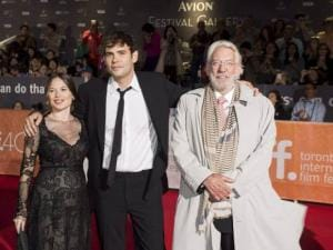 Rossif Sutherland, Celina Sinden and Donald Sutherland