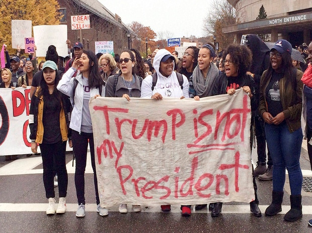 Donald Trump, protests, US, elections, president, Hillary Clinton, Trump, students, universities, schools