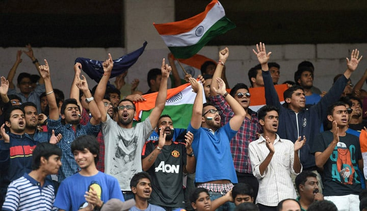 Indian football, fans, cheers, U-23, friendly, football match, India, Pakistan, Bengaluru