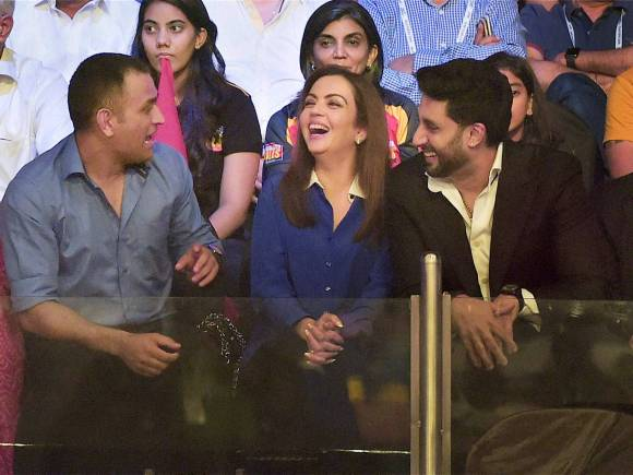Pro Kabaddi League, Pro Kabaddi League Final, MS Dhoni, Nita Ambani, Abhishek Bachchan, Mumbai