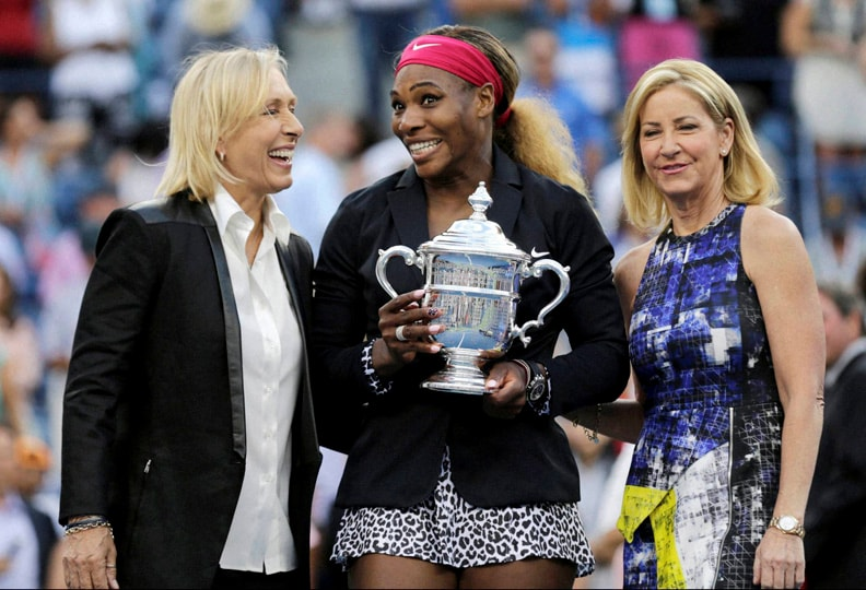 Martina Navratilova, Chris Evert, pose, photo, Serena Williams, Williams, Caroline Wozniacki, Denmark