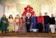 Arun Jaitley at the wedding reception of BJP President Amit Shah's son Jay and Rishita