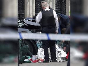 Attack Victim out side House of Parliament London