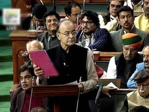 Arun Jaitley presenting the Union Budget 2017-18 in Lok Sabha in New Delhi